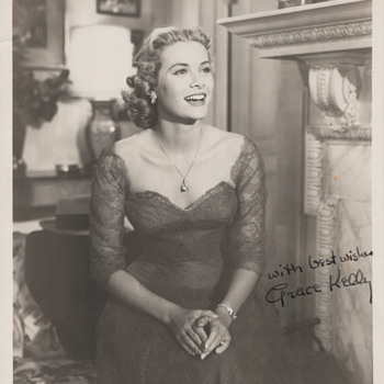 Grace Kelly Signed Promo Photo (1954)  - Photographs