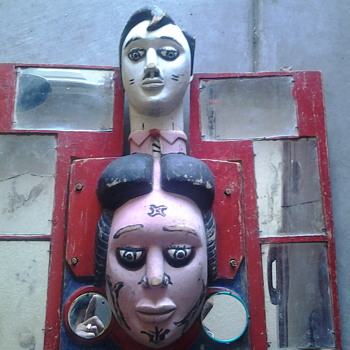 funhouse relic? or mardi gras mask? - Folk Art