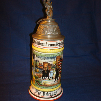 Imperial German Prussian beer stein of Reservist Reichling