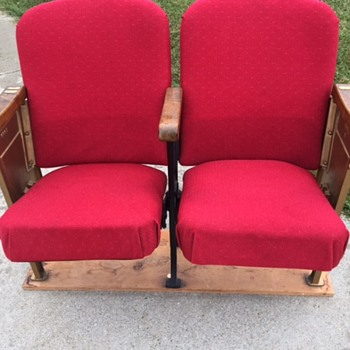Pair of Theatre Chairs