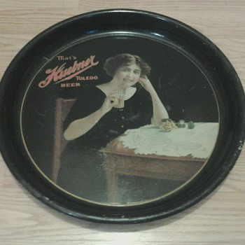 1915 Huebner Beer Tray  - Breweriana