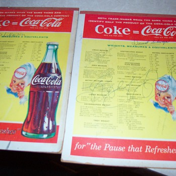Coca-Cola Writing Tablets - Coca-Cola