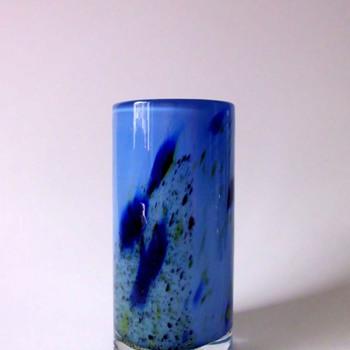 Randsfjord Glassverk Blue Vase by Benny Motzfeldt or Torbjørn Torgersen - Art Glass