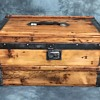 Small Antique Trunk Lined