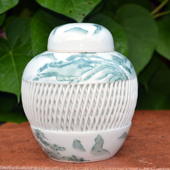 Imari Hand Painted Ginger Jar - Pottery