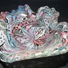 Murano Art Glass -- Latticino Scramble Bowl