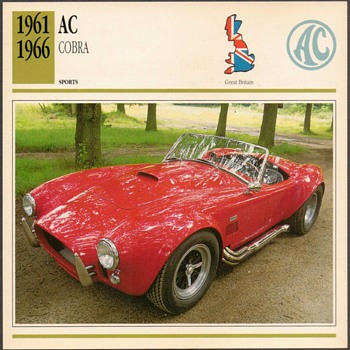 Vintage Car Card - AC Cobra - Cards
