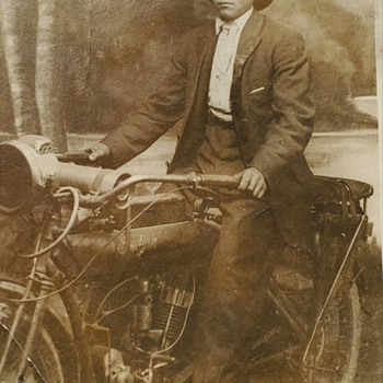 1916 Father-in-law with his Indian - Motorcycles