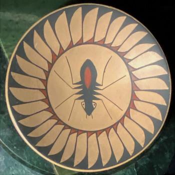 Mata Ortiz Pottery Saucer by Jose Andres Villalbas H. - Pottery