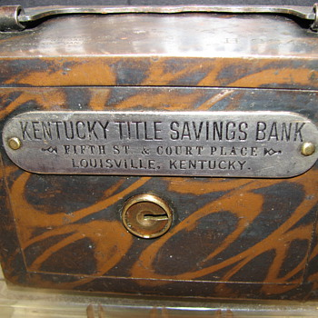 "Kentucky Title Saving Bank""Louisville,Kentucky""1895 - Coin Operated"
