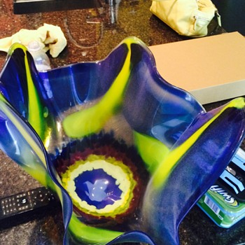 Estate sale finds - free form glass bowls - Art Glass