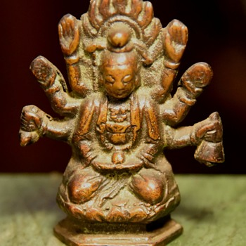 Small Bronze Figure from the Temple - Asian