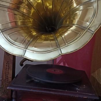 Gramophone, Ganesh Figure, Soundlove Medicine Bowl. - Asian