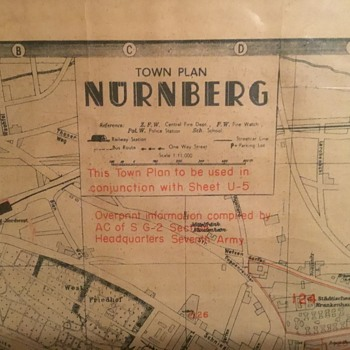 NUREMBERG GERMANY 1941 compiled by U.S. Forces  - Paper