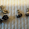 TEKA 925 Silver ROSE Earrings and Pendant