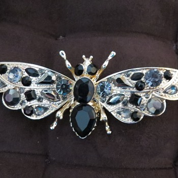Modern Brooch - Moth! - Costume Jewelry