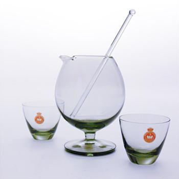 TIVOLI mixer  (1958) and COPENHAGEN glasses (1953), Per Lütken (Holmegaard) - Art Glass