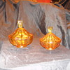 Art Deco Amber Glass vanity set need help