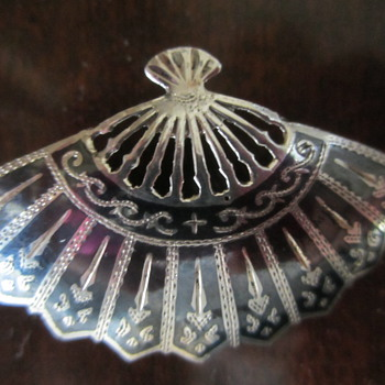 Sterling Siam Niello  from Thailand - Costume Jewelry