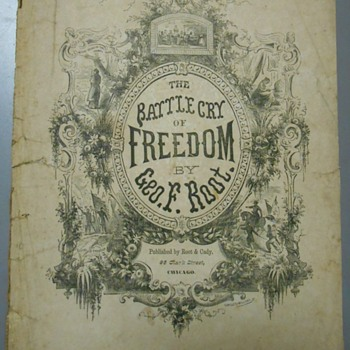 "1863 Civil War Anthem~""Battle Cry of Freedom"" Sheet Music"