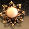 I found a gorgeous antique gold brooch with a coral center