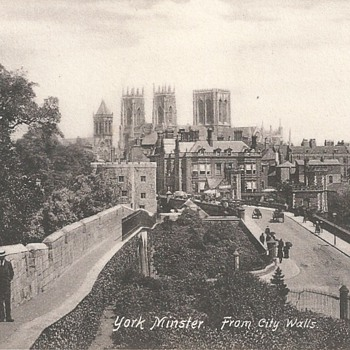 YORK MINSTER FROM CITY WALLS  1897
