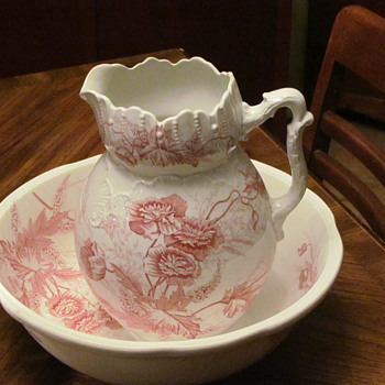 Great Grandmother's Washbasin and Pitcher - China and Dinnerware