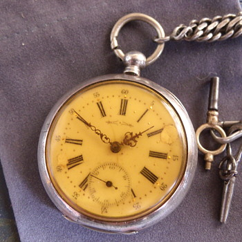 Solid Silver Swiss Pocket Watch - Pocket Watches