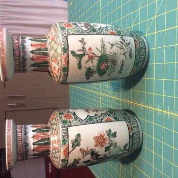Unmarked Asian vases - Pottery