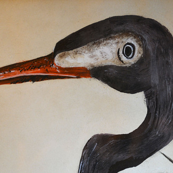 Painting of Crane - Fine Art