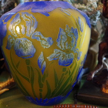 LA ROCHERE CAMEO GLASS LAMP FRANCE - Art Glass