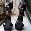 Vintage black cat salt and pepper shakers