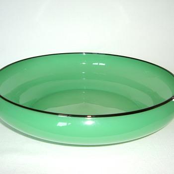 Czech Art Deco Tango Glass Bowl - Art Glass