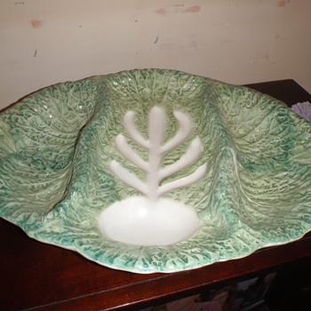 """Italian Majolica """"Carving"""" Dish - Pottery"""