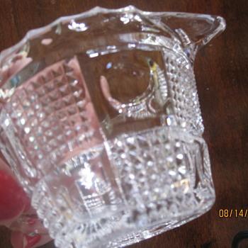 interesting unknown pattern creamer - Glassware