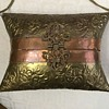 Vintage metal pillow purse