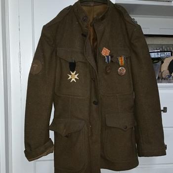 Civil war jacket and medals