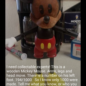 Mickey Mouse 194/1000 Anyone have information?