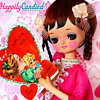 Vintage 1960's-1970's Japanese Pink Hekinan Doll (aka Pose Doll & Bradley Doll)