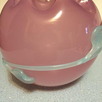 ? Stevens and Williams Rose Bowl Vase - Art Glass