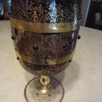 Huge Goblet  Amemthyst Glass - Glassware