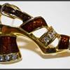 Costume Jewelry Brooch ( Shoe )