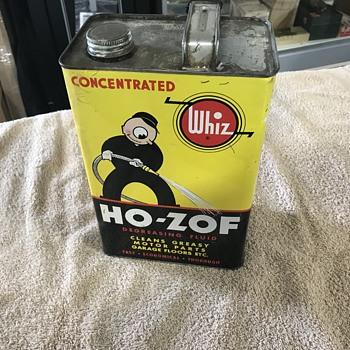 Whiz ho-Zof petroleum cleaner  - Advertising