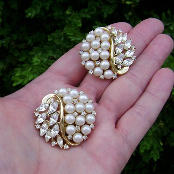 Trifari Alfred Philippe Earrrings - Costume Jewelry