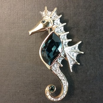 Attwood and Sawyer seahorse brooch  - Costume Jewelry