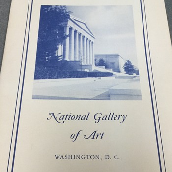 1960  National Gallery of Art Washington DC 1960 art prints and booklet  - Books