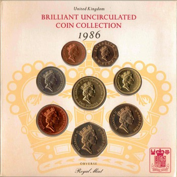1986 - United Kingdom Mint Coin Set - World Coins