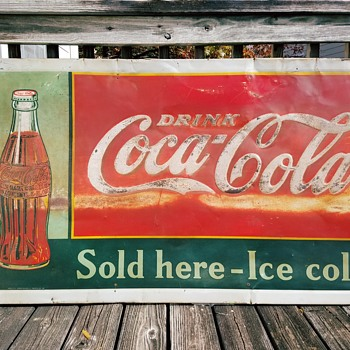 1937 Drink Coca-Cola Sign - Coca-Cola