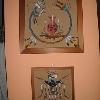 Navajo sand paintings - Native American