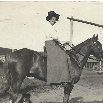 "One of my Aunt, horse riding""1910"" - Photographs"